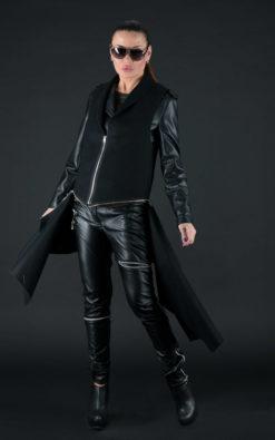 Cashmere Vest, Winter Vest, Waistcoat Women, Wool Vest, Plus Size Clothing, Fur Vest, Black Vest, Sleeveless Vest, Zipper Vest
