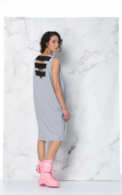 Grey Kaftan Dress, Minimalist Dress, Avant Garde Dress, Cut Out Dress, Grey Maxi Dress, Sleeveless Maxi Dress, Extravagant Backless dress