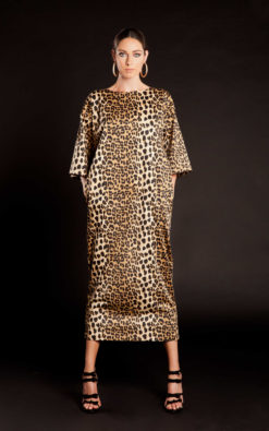 Leopard Print Dress, Kaftan Dress, Loose Dress, Oversize Dress, Animal Print Dress, Evening Dress, Extravagant Dress, Plus Size Clothing