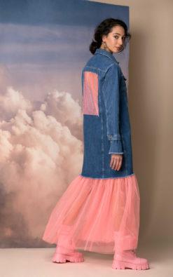 Denim Jacket, Oversized Denim Jacket, Futuristic Clothing, Plus Size Clothing, Extravagant Jacket, Avant Garde Clothing, Futuristic Jacket