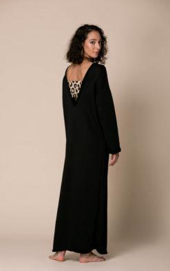 Black Backless Caftan Dress, Loungewear Dress, Black Maxi Dress, Cut Out Dress, Avant Garde Dress, Extravagant Dress, Comfy Dress, Kaftan