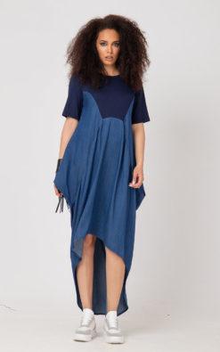 Blue Kaftan Oversized SEDA Dress For Women In Plus Sizes, Asymmetrical Blue Kaftan, Loose Caftan Dress, Summer Kaftan Dress, Adeptt