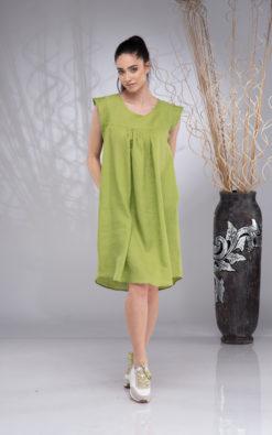 Linen Dress for Women Knee-Length, Linen Tunic Dress, Linen Boho Dress, Sleeveless Linen Summer Dress, Linen Beach Dress