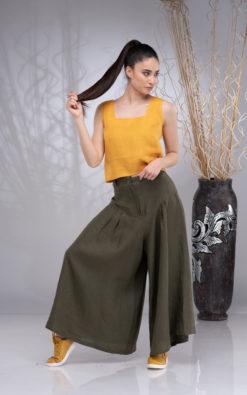Linen Wide Leg Pants, Linen Culotte, Linen Pants Women, Linen Palazzo Pants, Linen Skirt Pants, Summer Linen Pants