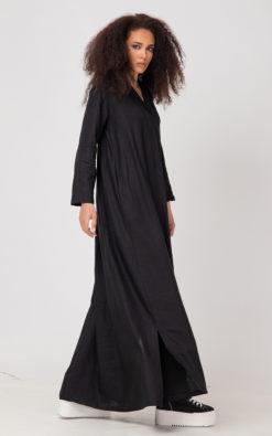 Linen Summer Dress, Plus Size Linen Dress / VARAH /, Linen Clothing, Linen Kaftan, Linen Abaya Dress, Linen Caftan, Gothic Linen Dress