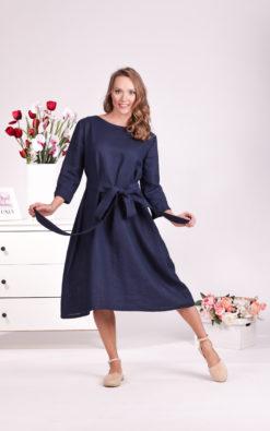 Linen Simple Dress, Belt Dress, Linen Clothing, A Line Dress, Minimalist Clothing, Plus Size Linen, Casual Dress, Linen Garden Dress, Loose