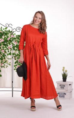 Linen Modest Dress, Red Maxi Dress, Prairie Dress, Plus Size Linen, Summer Dress, Linen Clothing For Women, Linen Kaftan Dress, Loose Dress