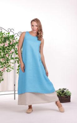 Linen Layered Dress, Linen Clothing, Simple Dress, Linen Summer Dress, Plus Size Linen, A Line Dress, Maternity Dress, Blue Linen Dress