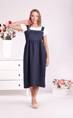 Linen Apron Dress, Pinafore Dress, Linen Clothing, Summer Dress, Plus Size Clothing, Linen Denim Dress, Jumpsuit Dress, Prairie Dress