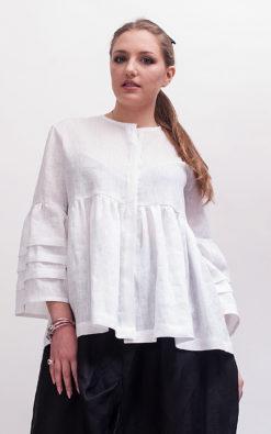 White linen blouse women long sleeve linen clothing women, Womens linen top plus size clothing for women, Plus size tunic white blouse