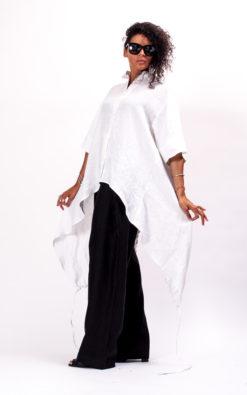 Oversized linen shirt women, Womens linen top, Asymmetrical shirt women