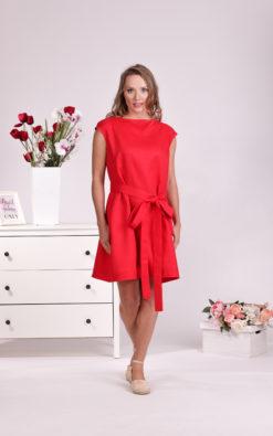 Red Midi Dress, Linen Dress, Belt Dress, Linen Clothing, Plus Size Dress, Sleeveless Dress, Linen Summer Dress, Mini Dress, Minimalist