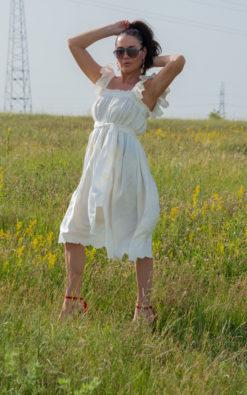 Off shoulders Dress / Sleeveless Dress for women / Wedding Boho Dress - DR0938CT