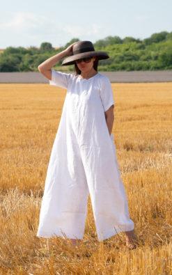 Minimalist Linen Jumpsuit