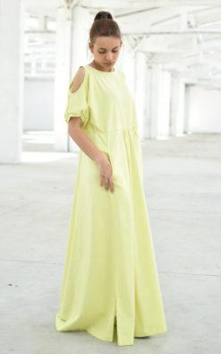 Short Sleeve Dress With Slits